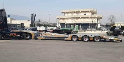 Semirimorchio soccorso stradale NUOVO PRONTA CONSEGNA allungabile con piano mobile BULL TRAILERS