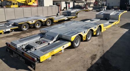 Semirimorchio trasporto veicoli allungabile con piano mobile BULL TRAILERS disponibile dal 20.03.2021