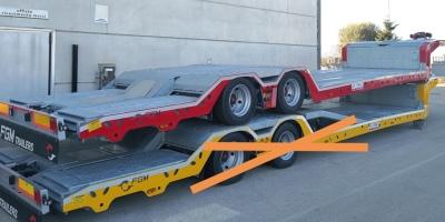 Carrellone trasporto veicoli PRONTA CONSEGNA 2 assi FGM 26 nuovo