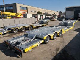 Semirimorchio soccorso stradale allungabile con piano mobile